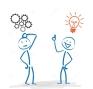stickman-thing-gears-bulb-idea-stickmen-white-background-45174938